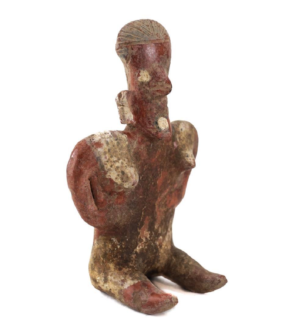 Small Pre-Columbian Pottery NAYARIT Seated Female