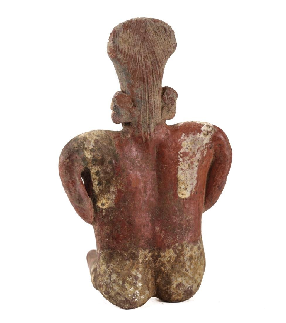Small Pre-Columbian Pottery NAYARIT Seated Female - 4