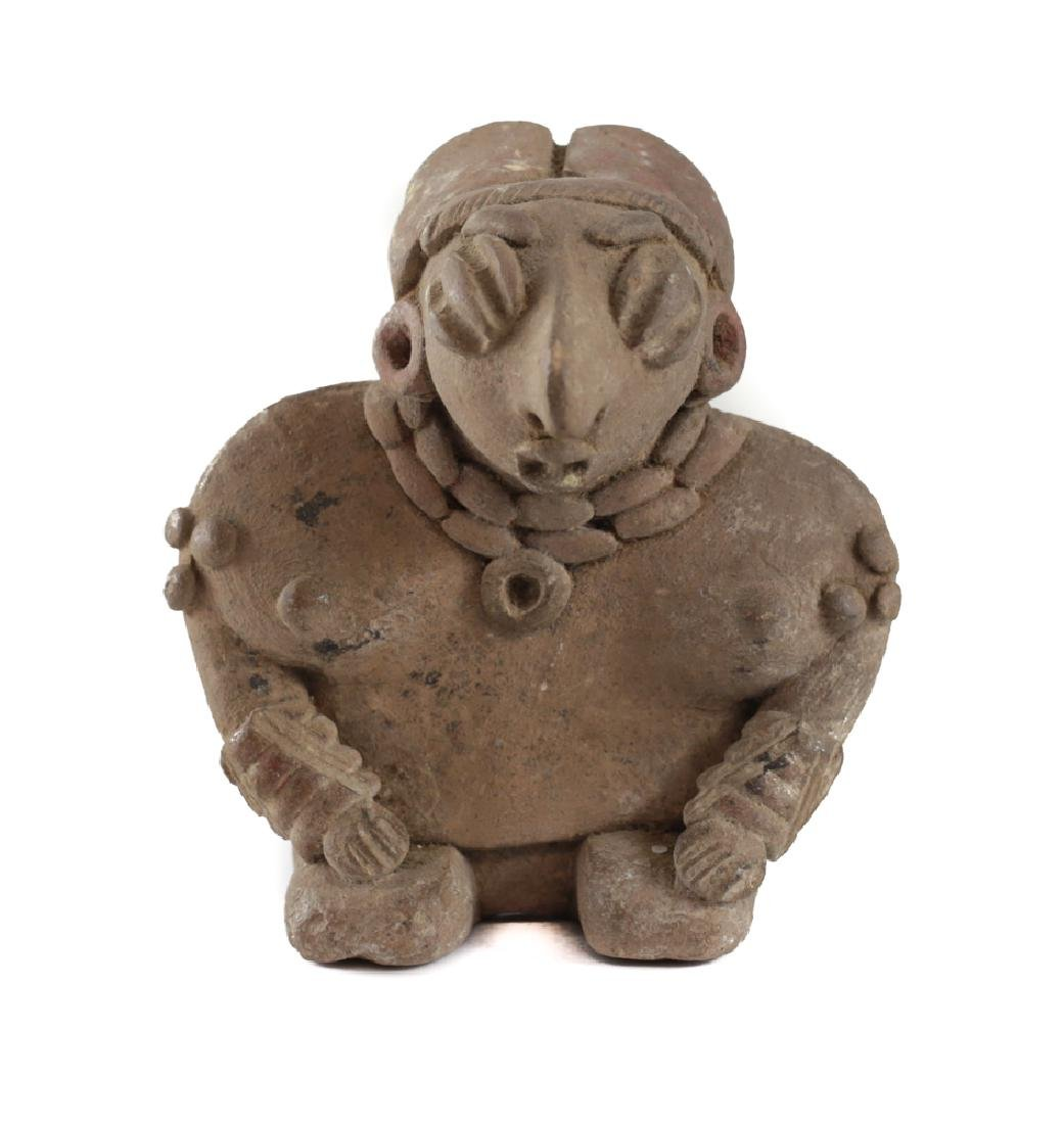 Pre-Columbian Pottery, CHUPICUARO kneeling Female - 2