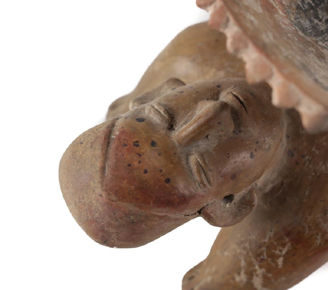 Pre-Columbian COLIMA Mexico Pottery Acrobat figure Bowl - 4