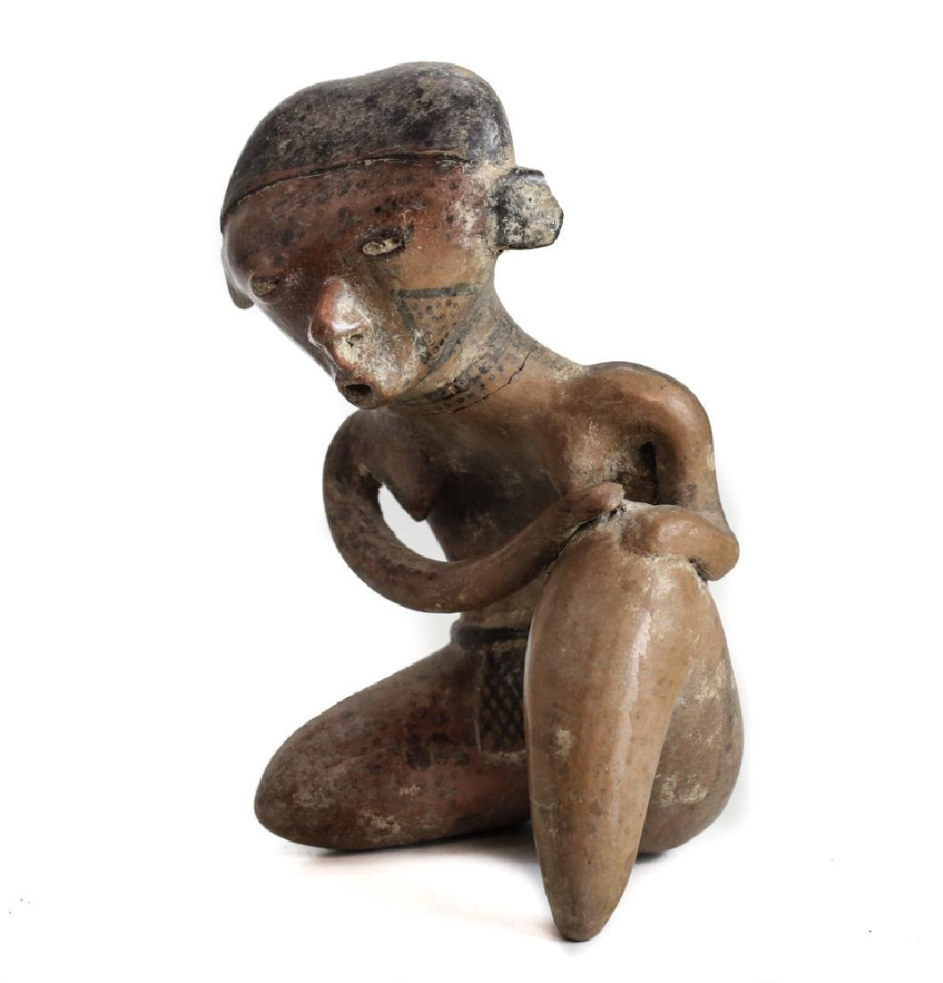 Pre-Columbian NAYARIT Pottery Female Figure Chinesco - 2