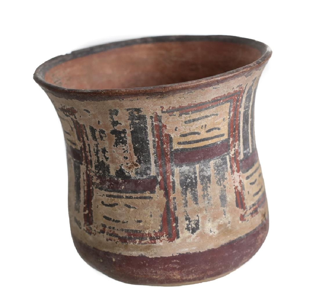 Pre Columbian NAZCA Pottery Kero Cup - 2