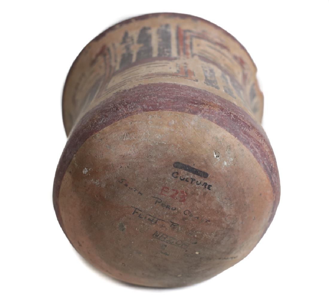 Pre Columbian NAZCA Pottery Kero Cup - 4