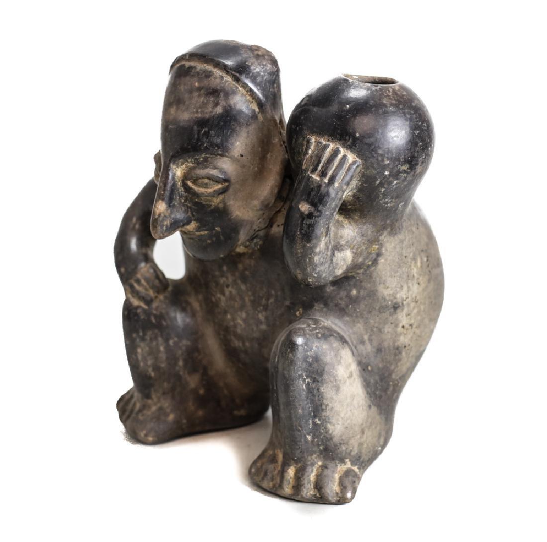 Pre Columbian Pottery JALISCO Hunchback figure