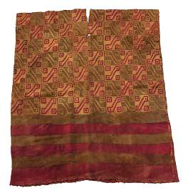 Pre-Columbian Woven Tunic, large complete garment
