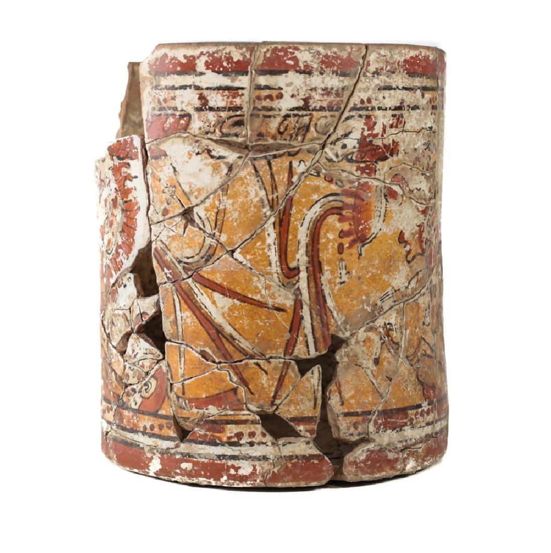 Large Pre Columbian MAYAN Polychrome Cupador - 2
