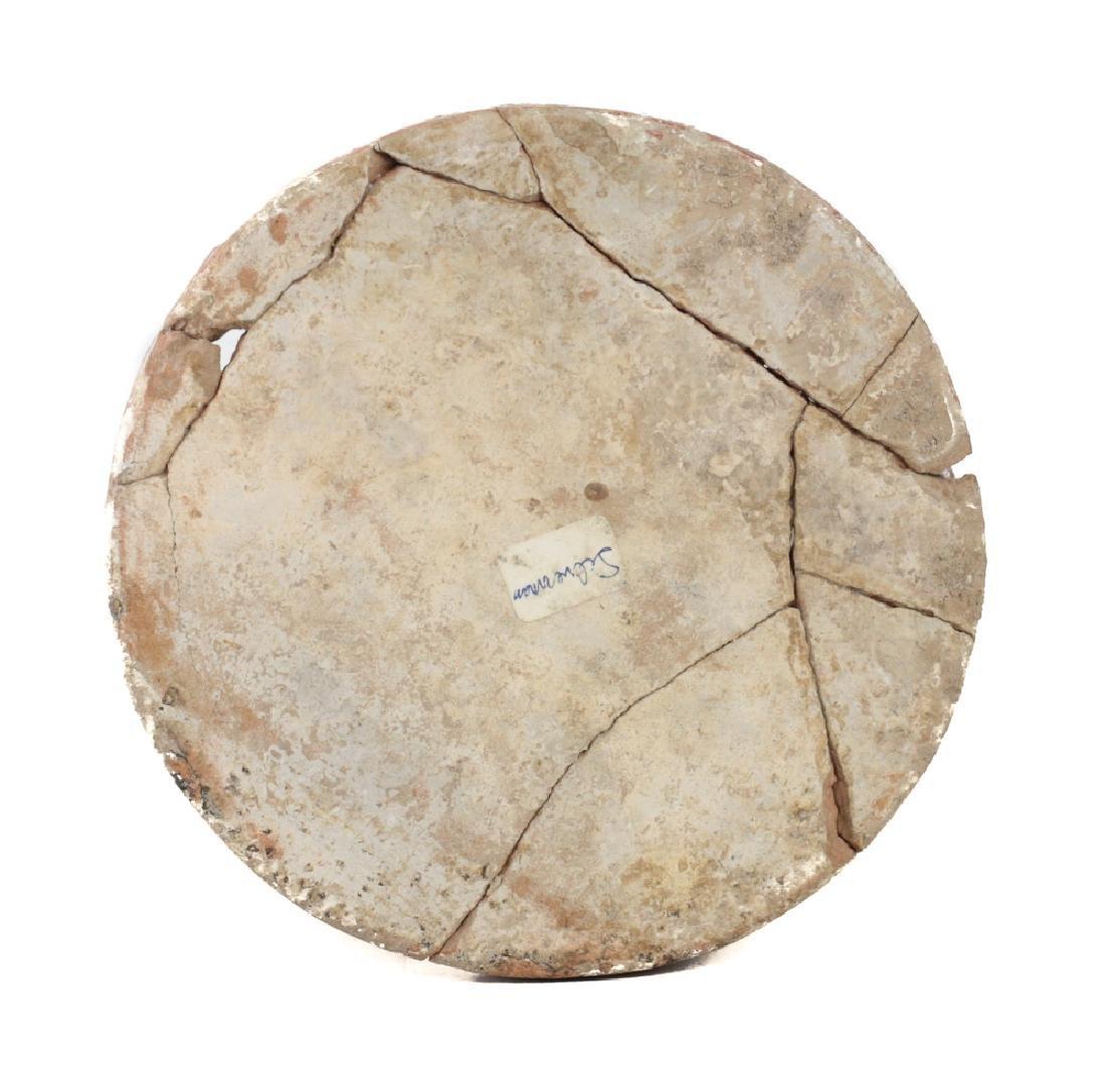 Large Pre Columbian MAYAN Polychrome Cupador - 6