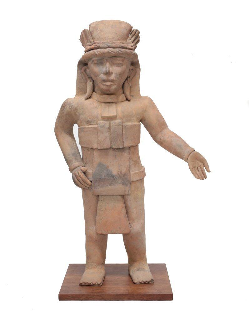 Large Pre Colombian VERACRUZ Standing Figure Remojadas