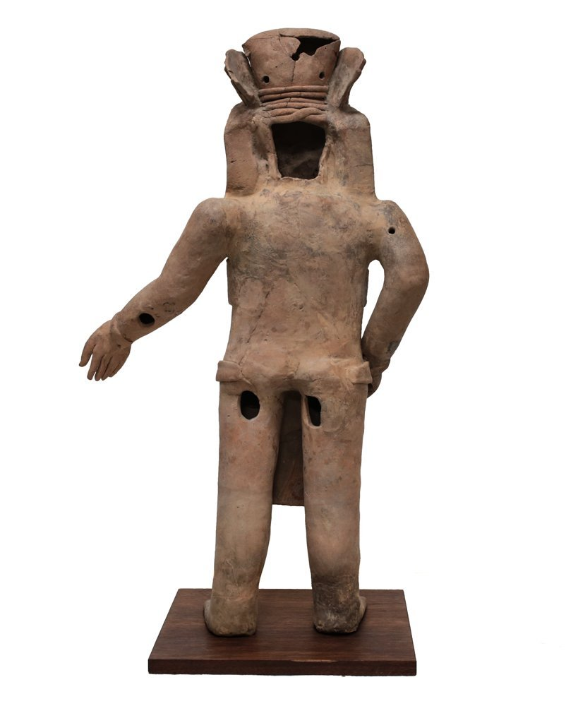 Large Pre Colombian VERACRUZ Standing Figure Remojadas - 3