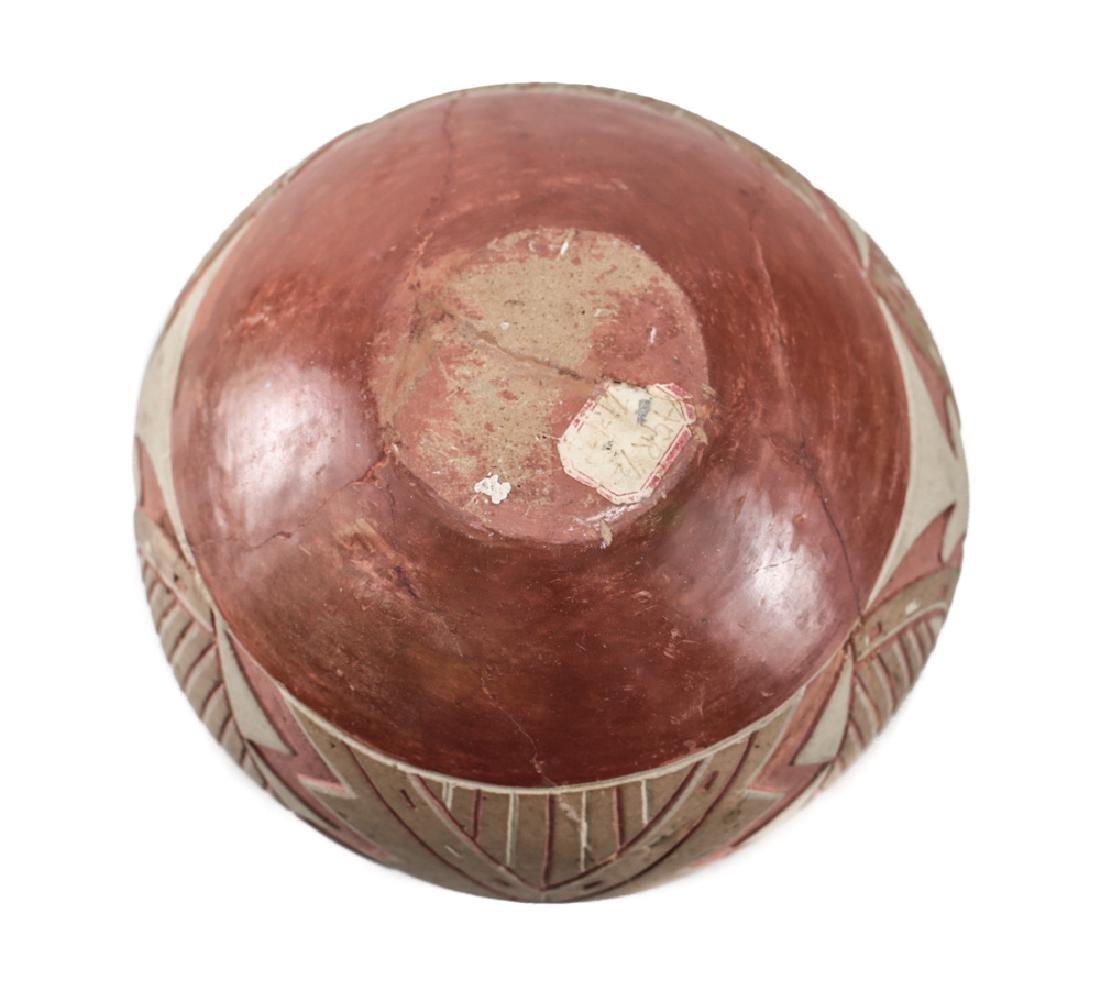 Native American Ancestral Puebloan  Polychrome bowl - 4