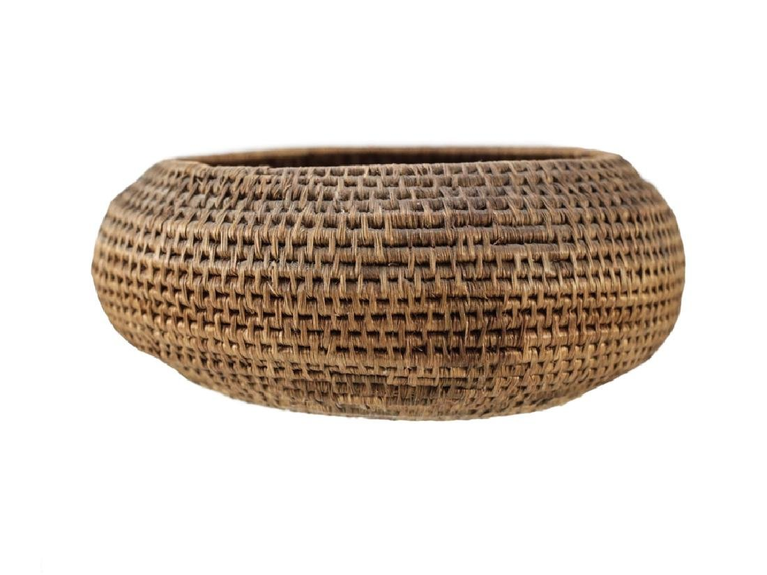 Native American Basket, coiled low bowl