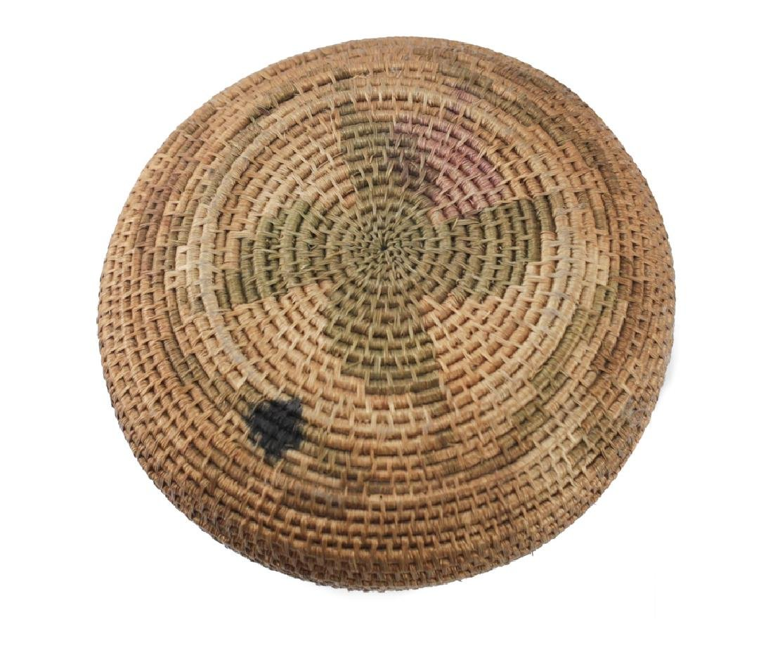 Native American Basket, coiled low bowl - 4