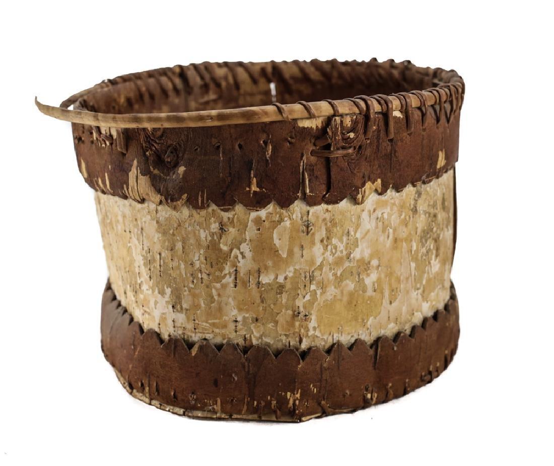 Native American CHIPPEWA Bark Basket - 2