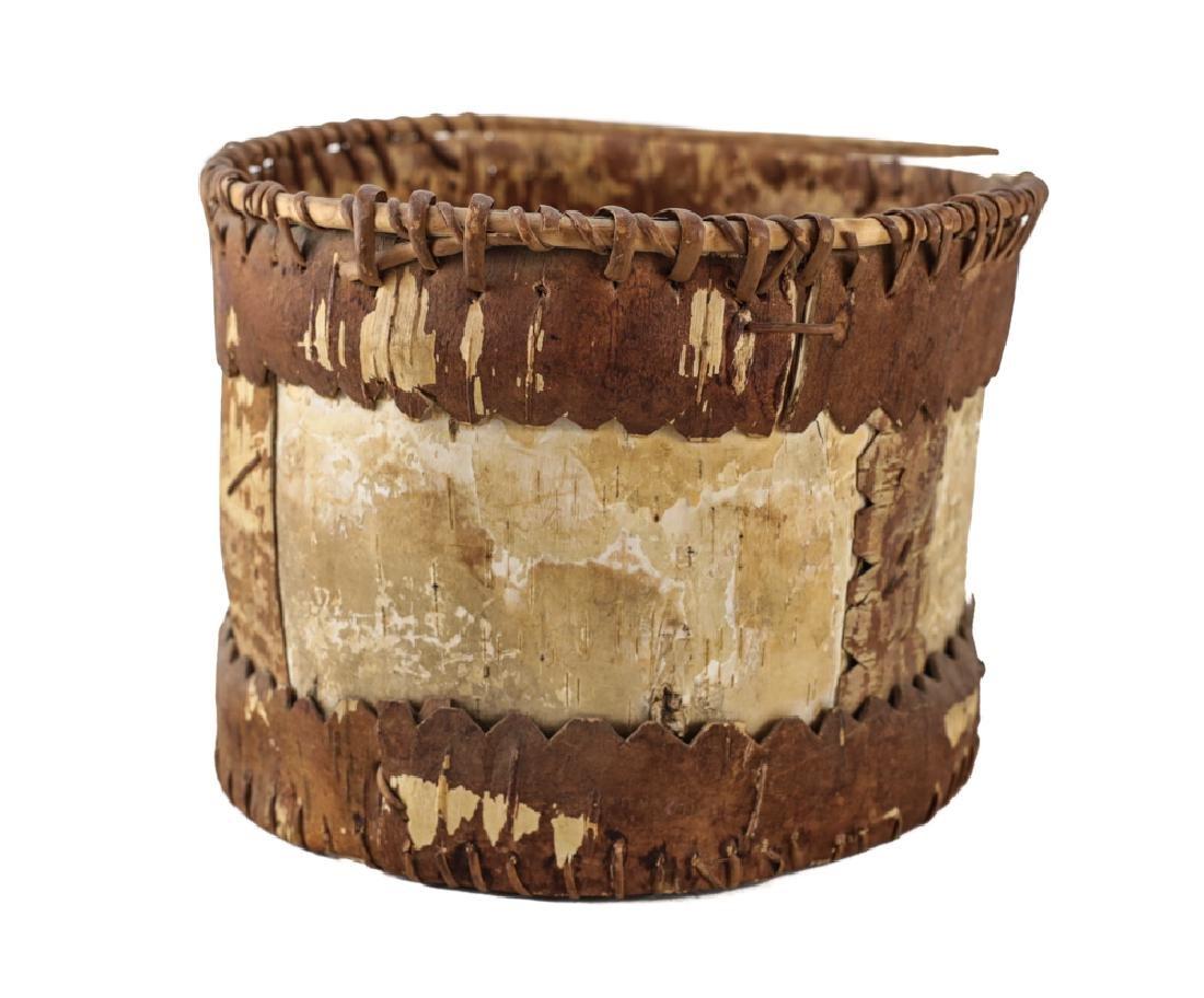 Native American CHIPPEWA Bark Basket - 3