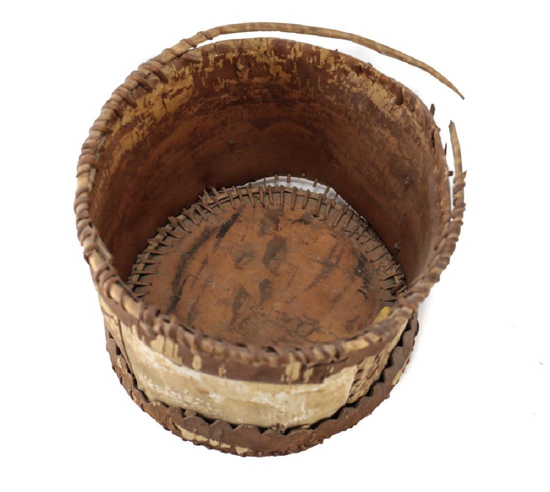 Native American CHIPPEWA Bark Basket - 4