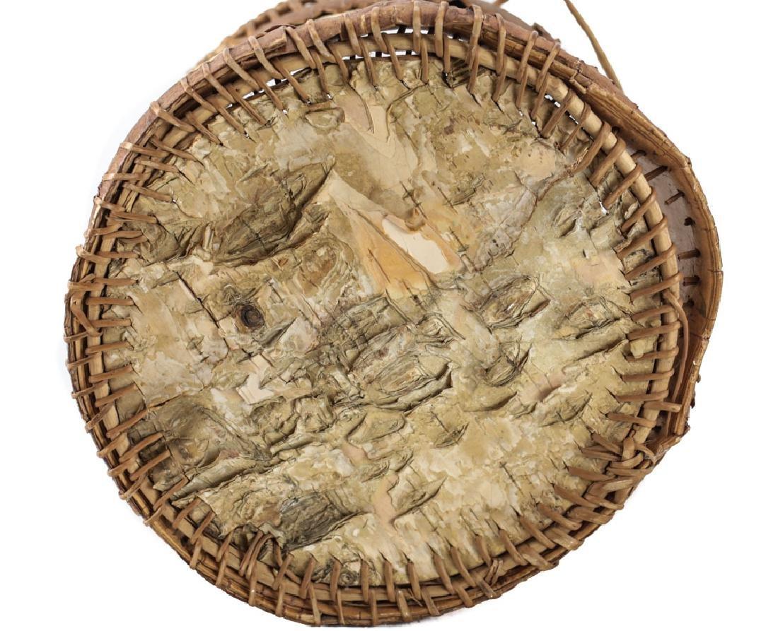Native American CHIPPEWA Bark Basket - 5