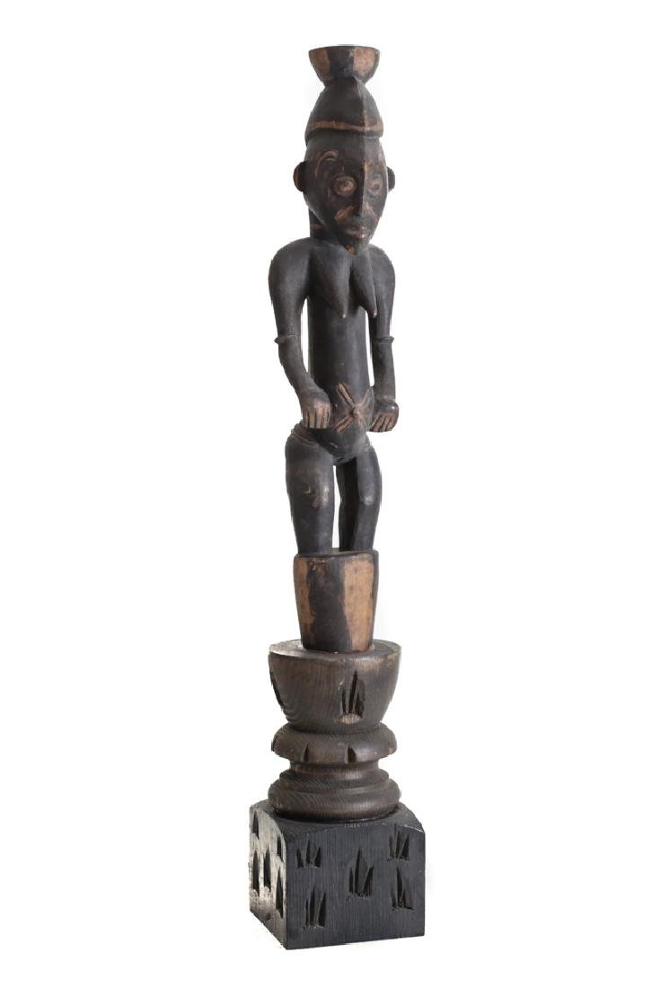 African Carved Wood Figure SENUFO Standing female
