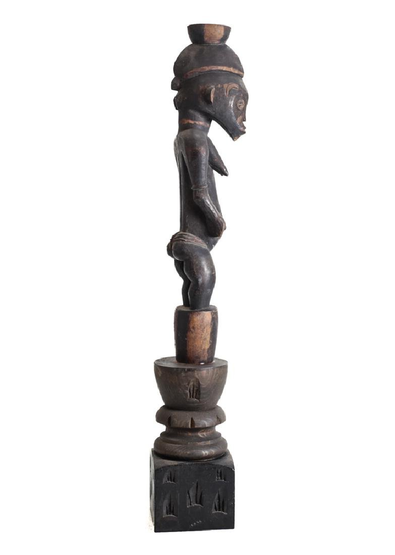 African Carved Wood Figure SENUFO Standing female - 2