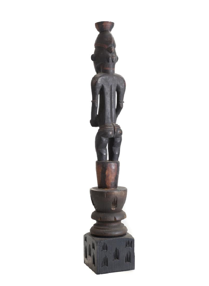 African Carved Wood Figure SENUFO Standing female - 3