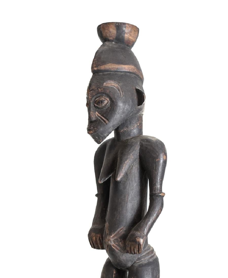 African Carved Wood Figure SENUFO Standing female - 4