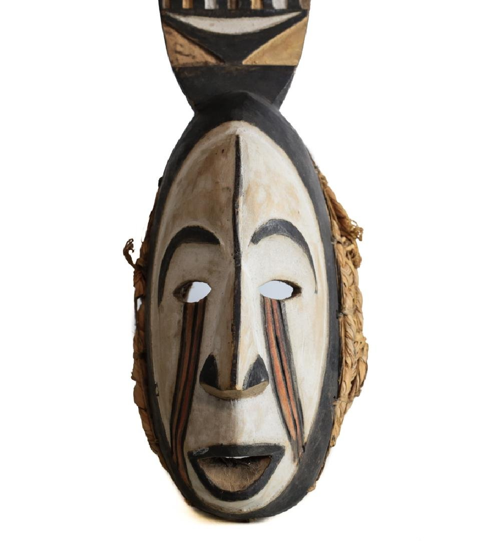 African Carved Wood Afikpo Mba Mask - 3