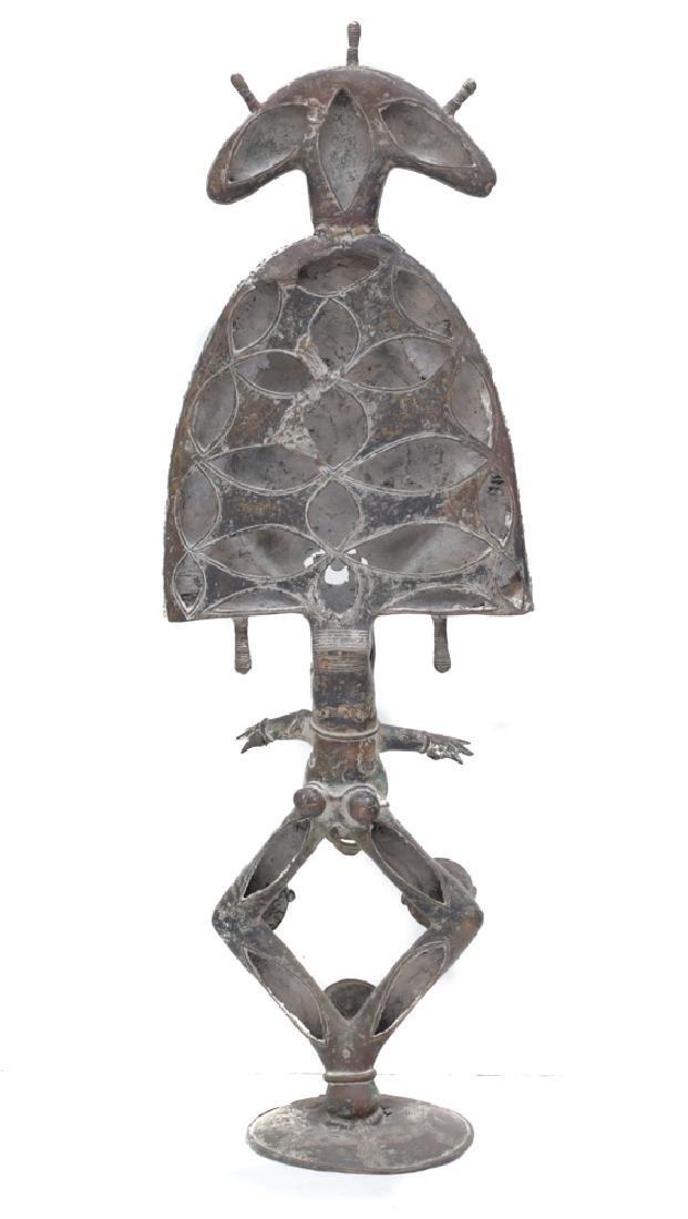 Monumental African Bronze Figure Reliquary Statue - 3