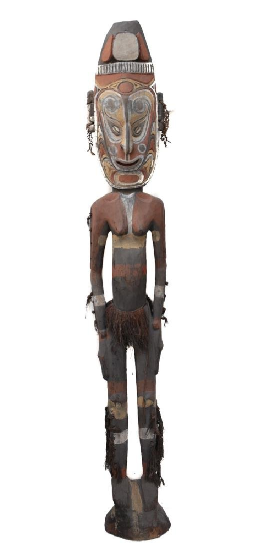 Very Large Papua New Guinea Carved Ancestral Figure