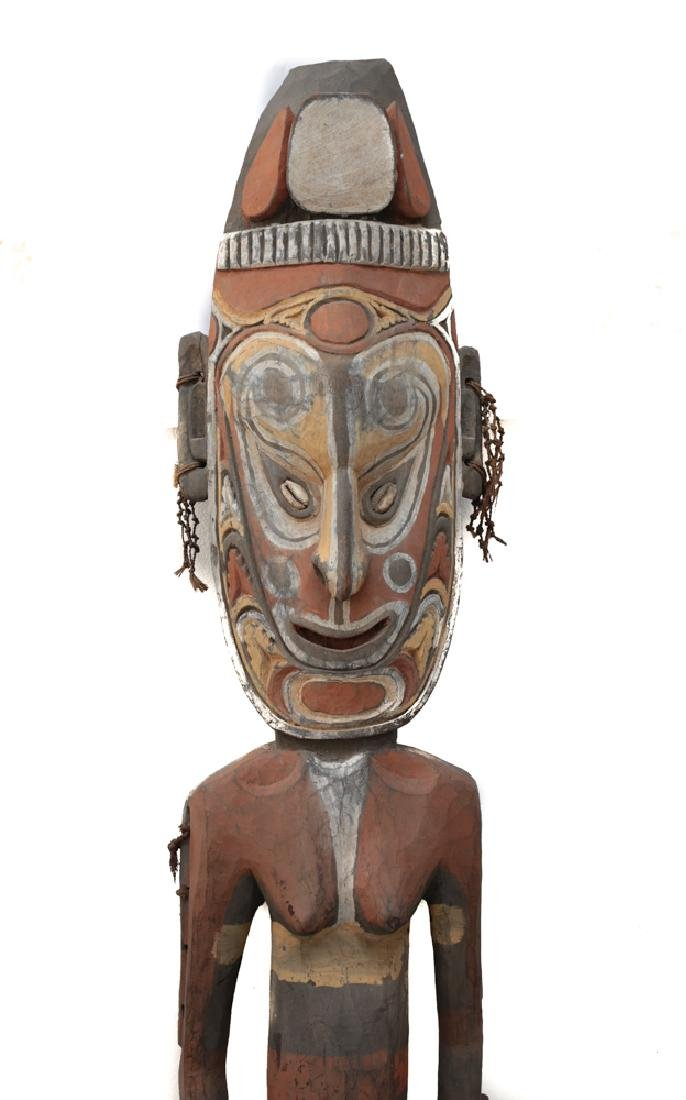 Very Large Papua New Guinea Carved Ancestral Figure - 2