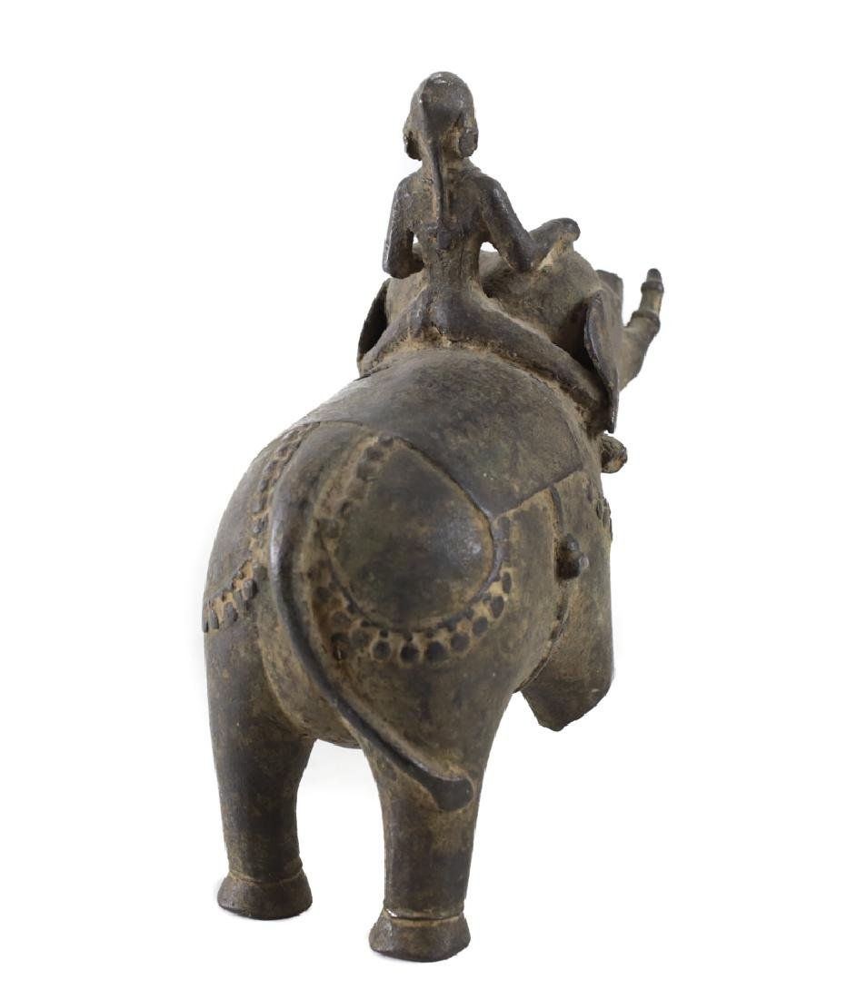 Bronze Asian Elephant with female mahout - 3