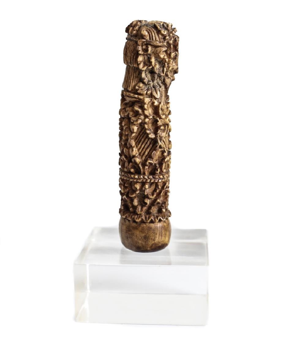 Antique  Indonesian Bone Kris keris Hilt Handle - 2
