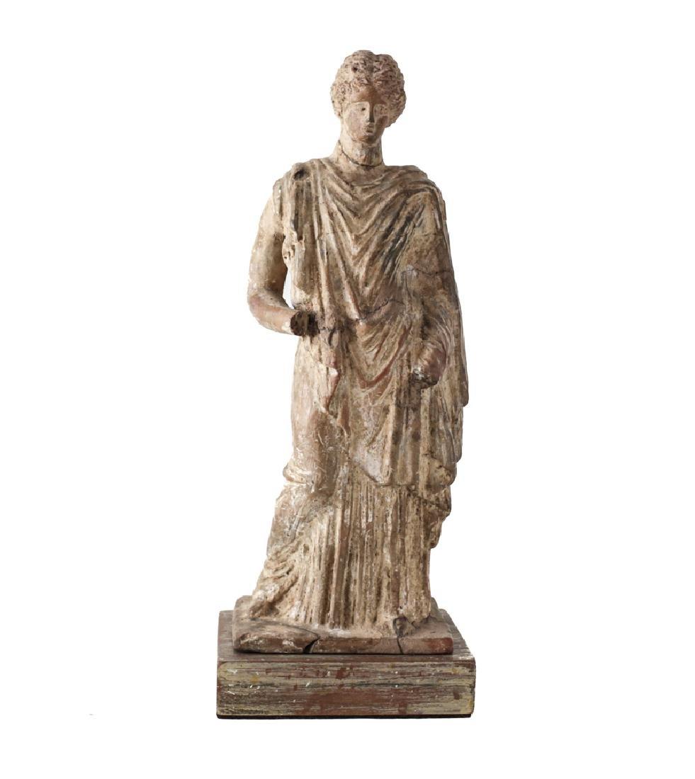Hellenistic Greek Terracotta Standing Female Figure