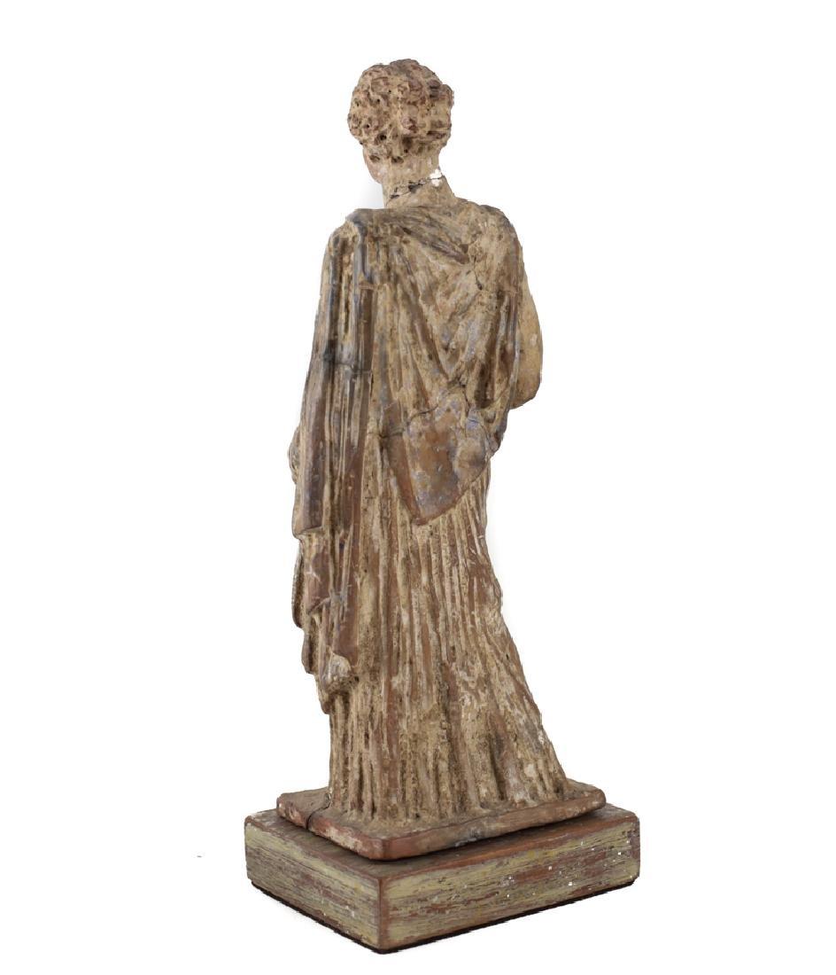Hellenistic Greek Terracotta Standing Female Figure - 3