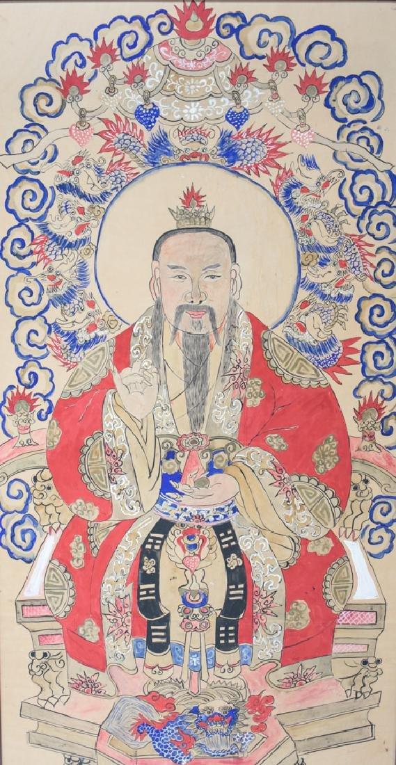 Tibetan Mineral pigments on paper, commemorative