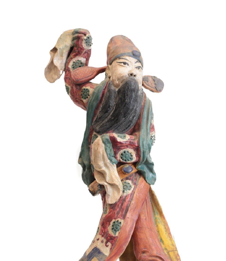 Chinese Polychrome Stucco Figure Decoration