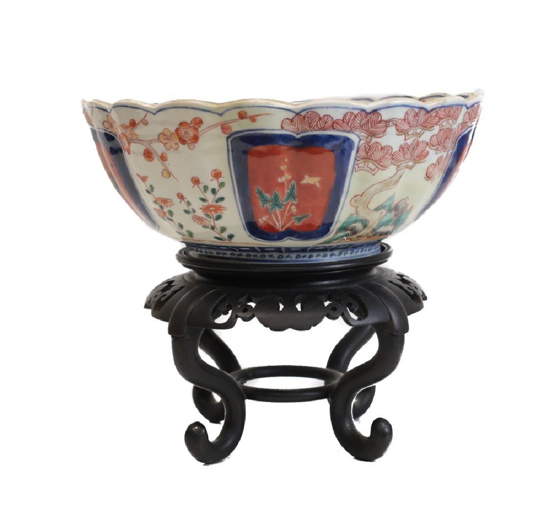 Large Fuki Choshun Japanese Imari Porcelain bowl