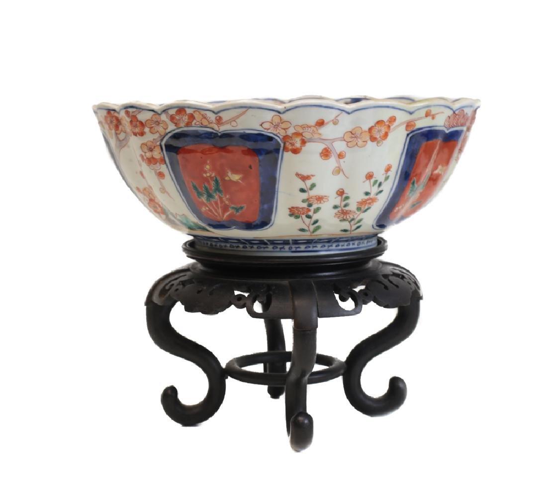 Large Fuki Choshun Japanese Imari Porcelain bowl - 2