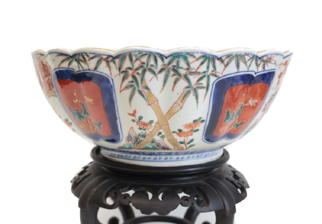 Large Fuki Choshun Japanese Imari Porcelain bowl - 5