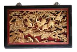 Chinese Gilt Wood wall carving