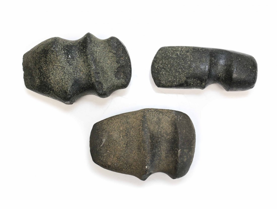 3 Assorted Native American Archaic Stone Tools