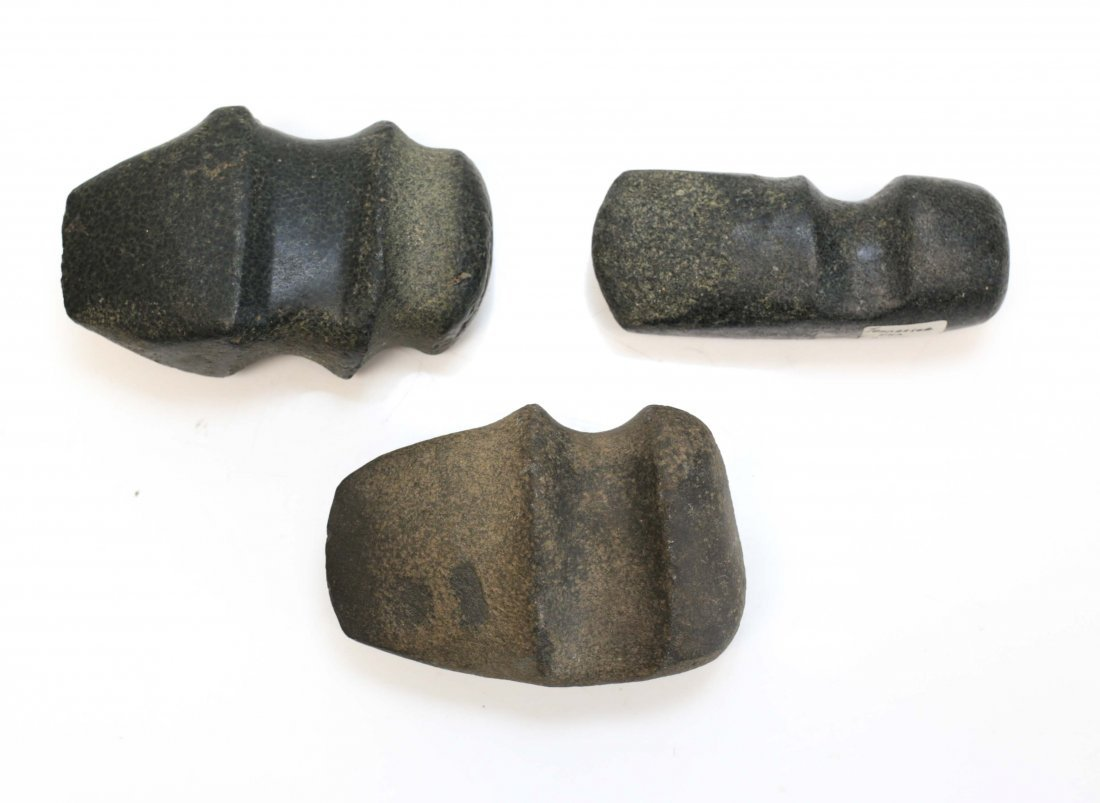 3 Assorted Native American Archaic Stone Tools - 2