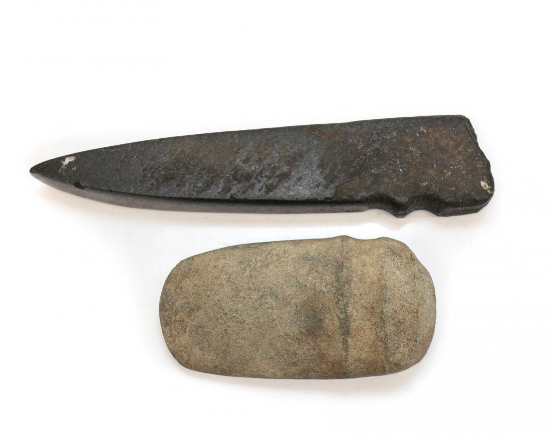 2 Assorted Native American Archaic Stone Tools