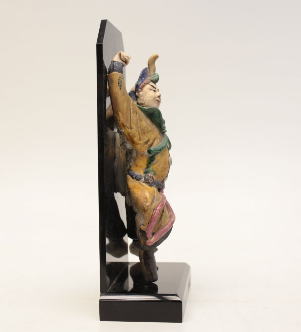 Chinese Polychrome Stucco Figure Decoration - 3