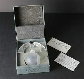Lalique Art Glass Eclipse Perfume Bottle Flacon Lalique
