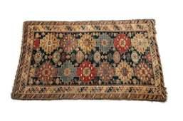 Antique Caucasian Wool Rug, 19th Century. Stylized