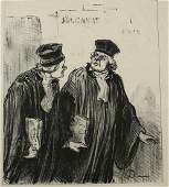 Honore Daumier France 1808-1879 Judicial theme