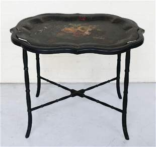 Vintage Chinese Tea Tray bamboo style legs removable