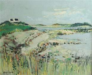 Yolande Ardissone  (France 1927-) Oil painting on
