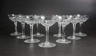 Group of 9 Baccarat France Crystal Sherbet / Champage