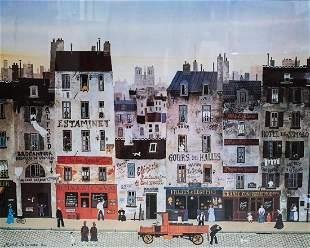 Michel Delacroix (French 20th C) Photolithograph Au bon