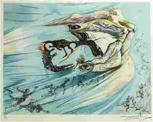Salvador Dali Spanish 1904-1989 Lithograph Homage to
